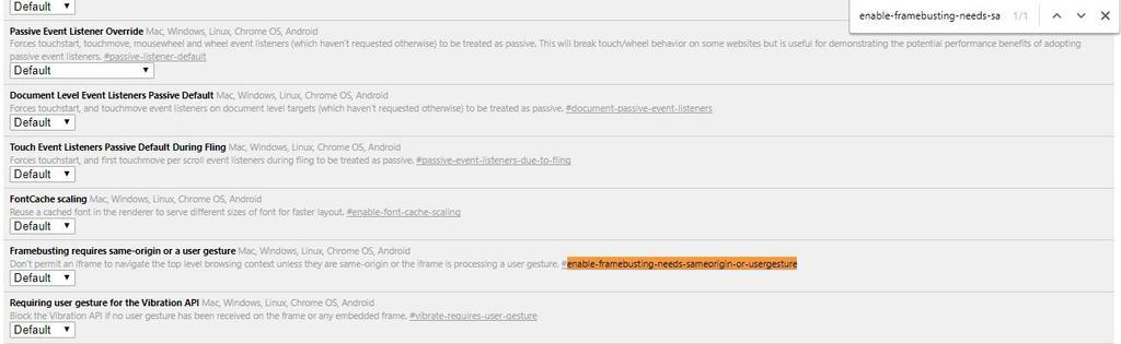 Añadir opciones seguridad Google Chrome