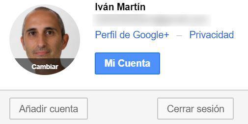 Cuenta de Google activa