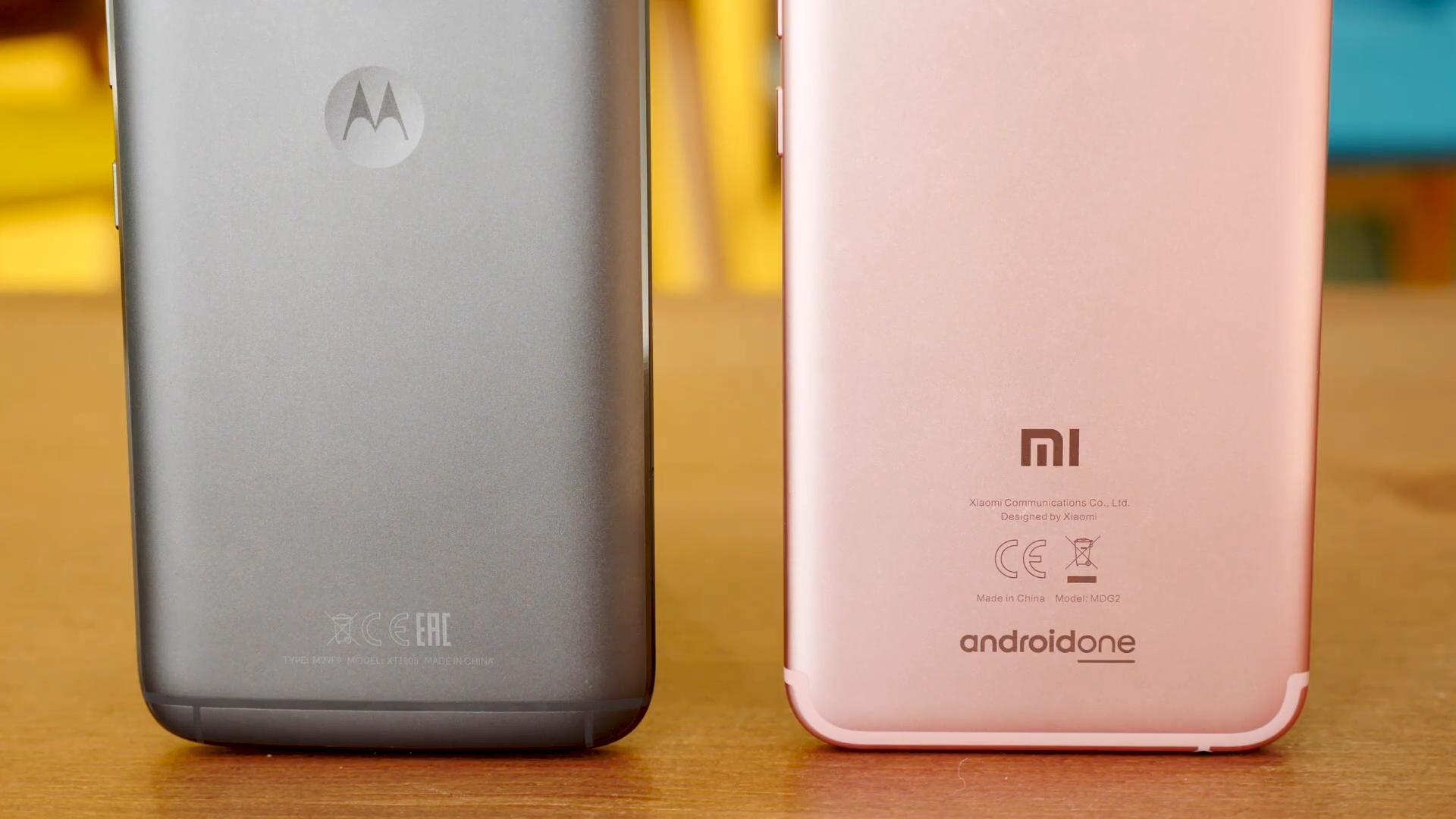Xiaomi Mi A1 y Moto G5s Plus