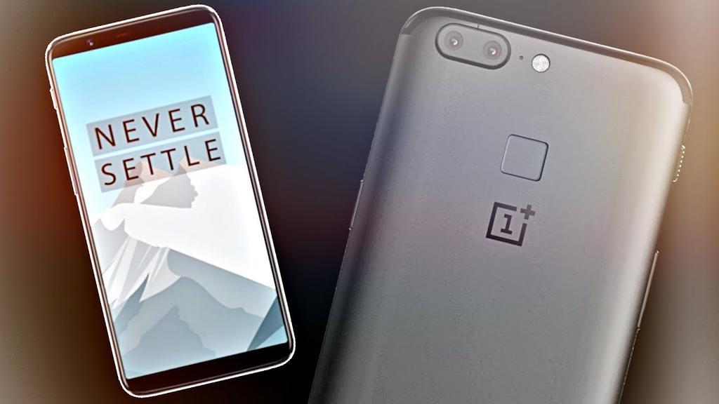 OnePlus 5T por delante y por detrás