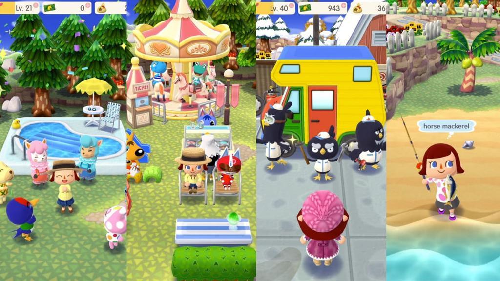Interfaz de Animal Crossing