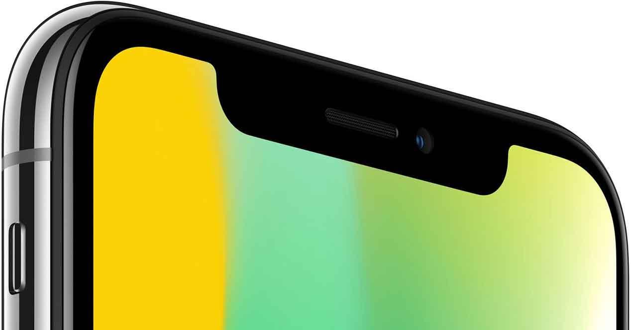 muesca negra del iPhone X