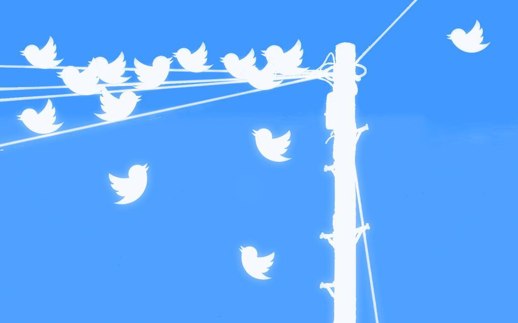 Imagen con el logotipo de Twitter
