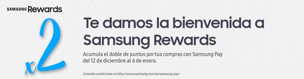 promoción doble puntos en Samsung Pay y los Samsung Rewards