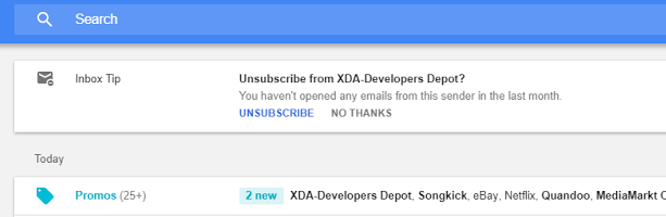 Uso de Inbox en cliente web