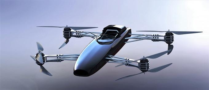 Coche volador Alauda Airspeeder