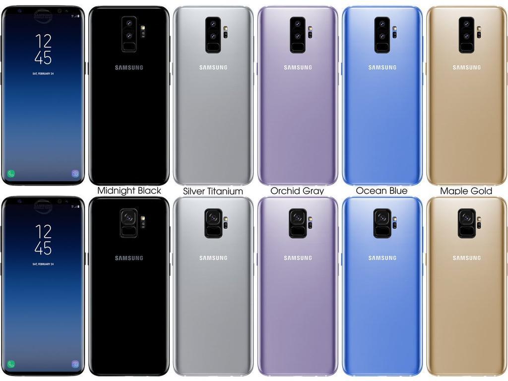 Posibles colores del Samsung Galaxy S9