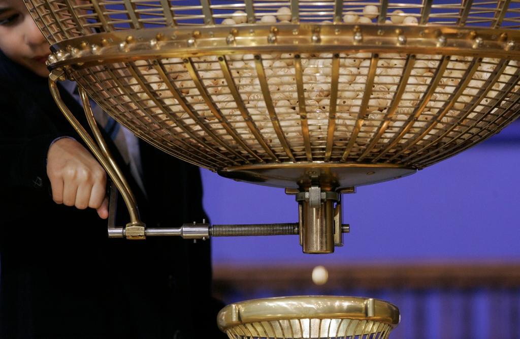 Bombo de la lotería de Navidad