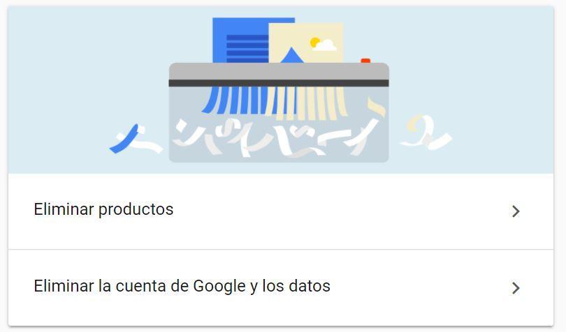 Pasos apra eliminar una cuenta de Gmail
