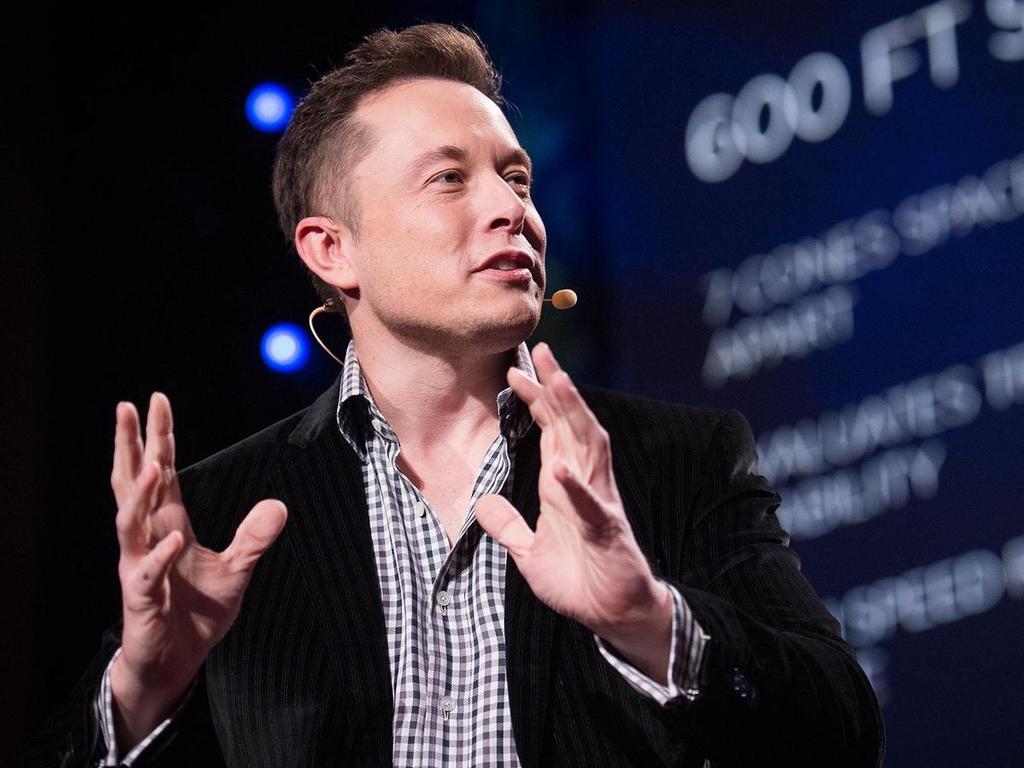 Elon Musk en una charla TED