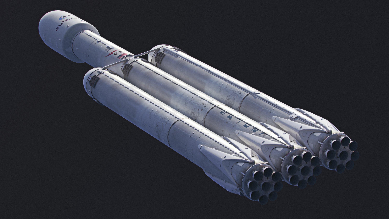 Imagen conceptual del Falcon Heavy