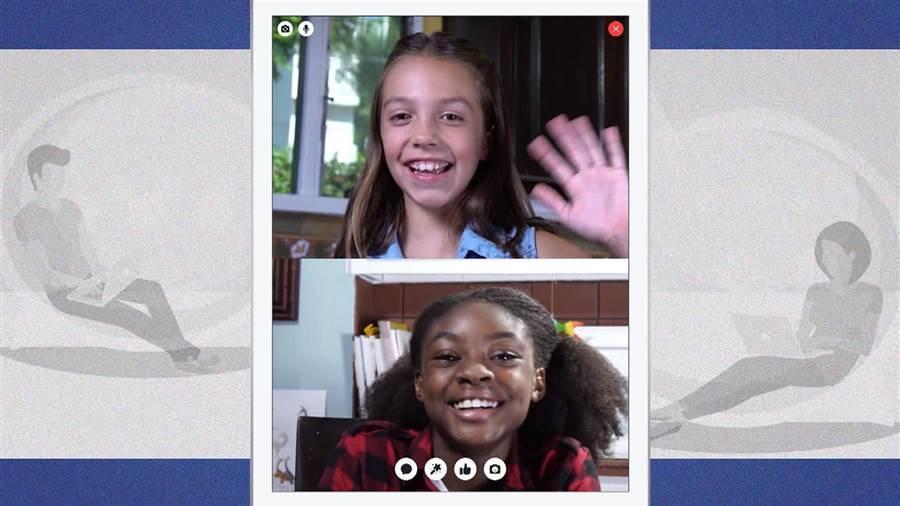 videollamada en Messenger Kids