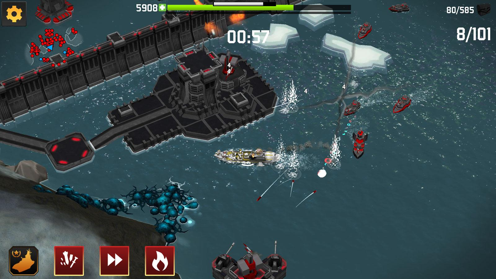 Juego Android Fortress: Destroyer
