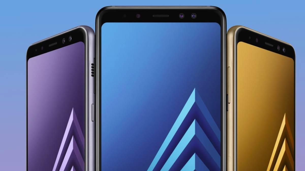frontal del Samsung Galaxy A8+