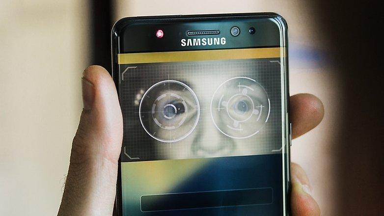 Lector iris del Samsung Galaxy S9