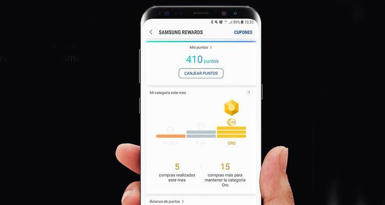 Samsung Rewards en la plataforma Samsung Pay