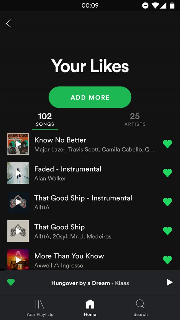 Nueva interfaz de Spotify