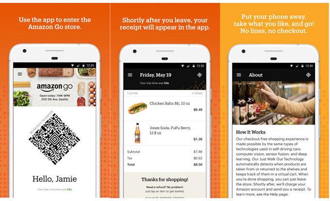 Aplicación para la tienda Amazon GO