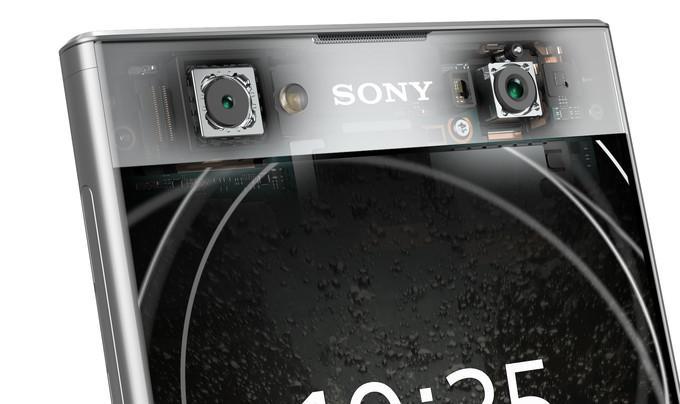 Cámara frontal de los Sony Xperia XA2