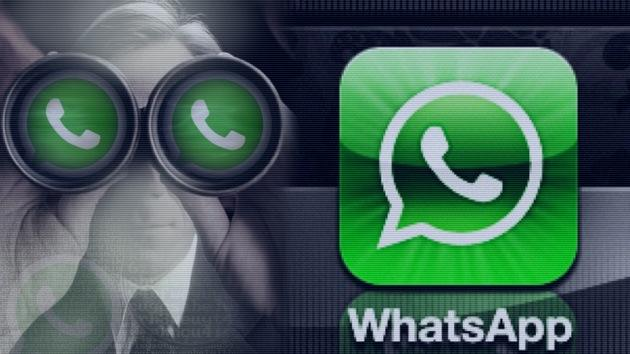 Espiar en WhatsApp con fondo gris