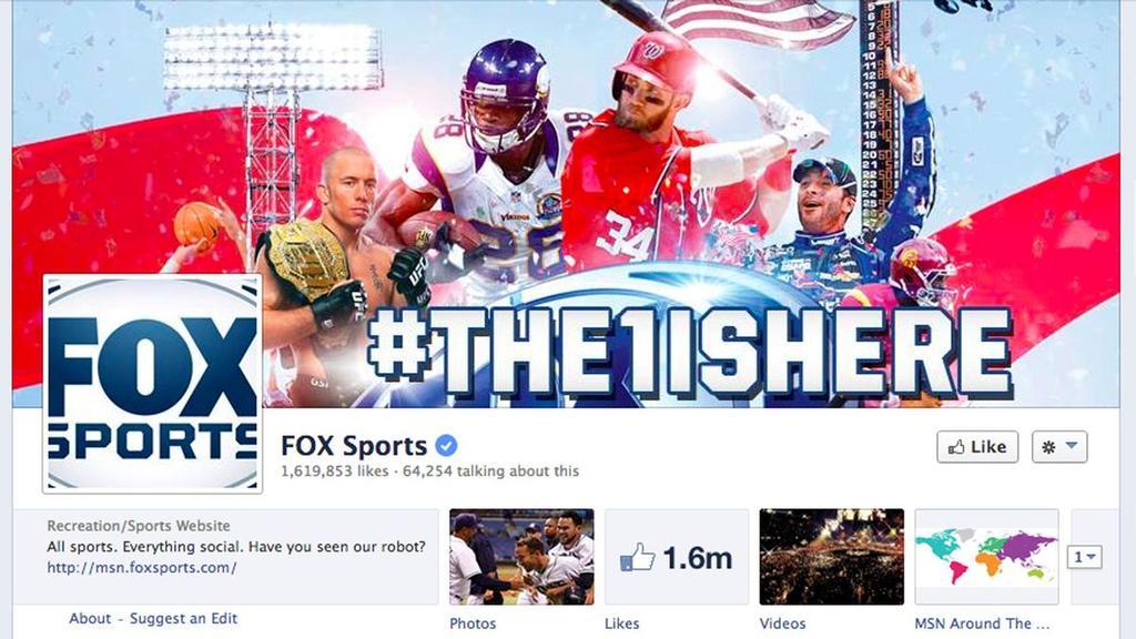 Página de Facebook de FoxSports