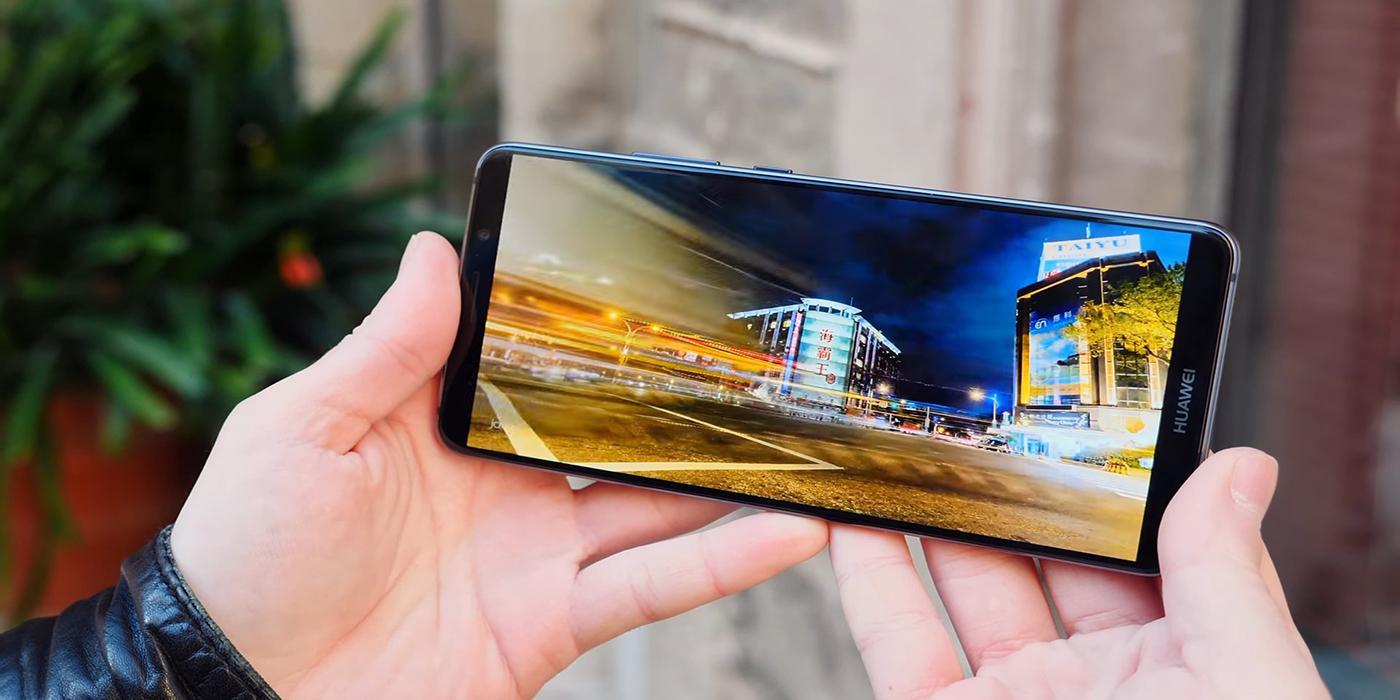 Huawei Mate 10 Pro de frente