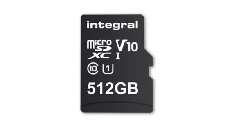 tarjeta microSD de 512 GB de Integral
