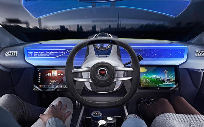 Posible interior del coche autónomo de Uber