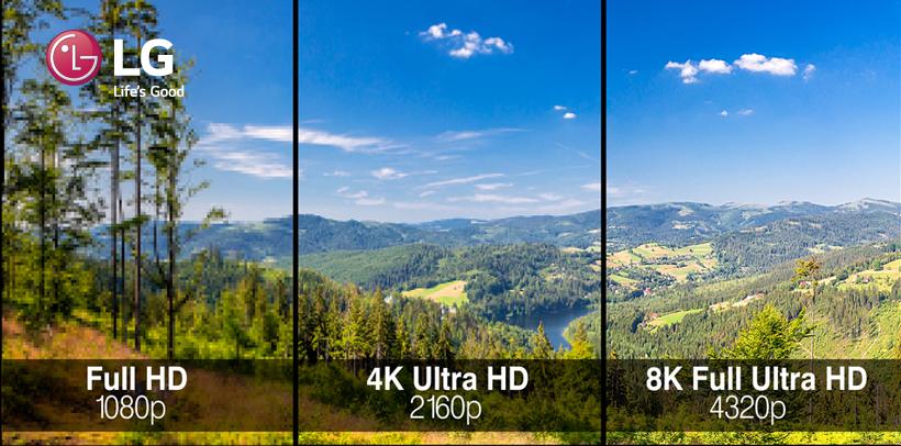 Diferencias resolución 8K