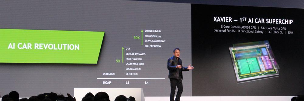 Presentación CES Nvidia Drive Xiavier