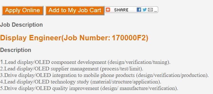 Oferta trabajo SOny Mobile para ingeniero OLED