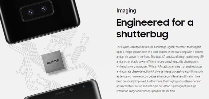 Lema de la cámara del Samsung Galaxy S9