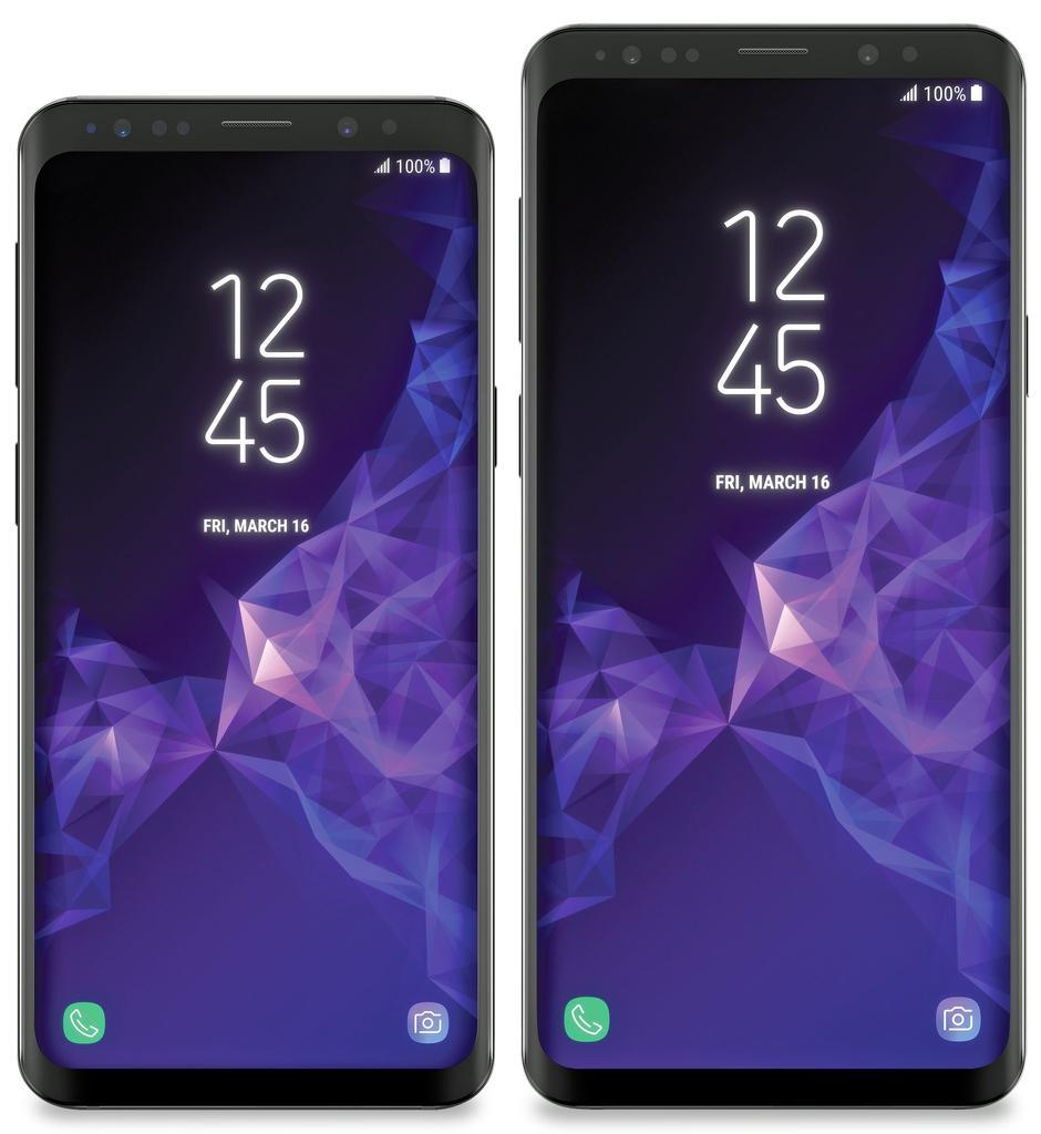 Diseño final del frontal de los Samsung Galaxy S9 y Galaxy S9+