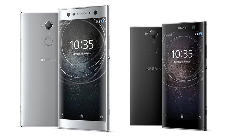 Diseño de los Sony Xperia XA2