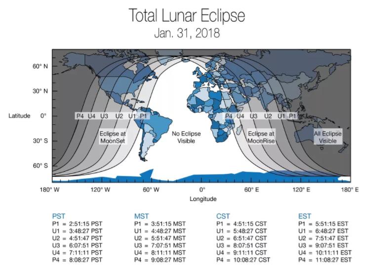 dónde se verá la superluna