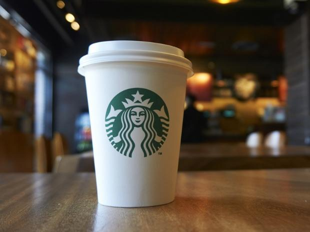 Vaso de la compañía Starbucks
