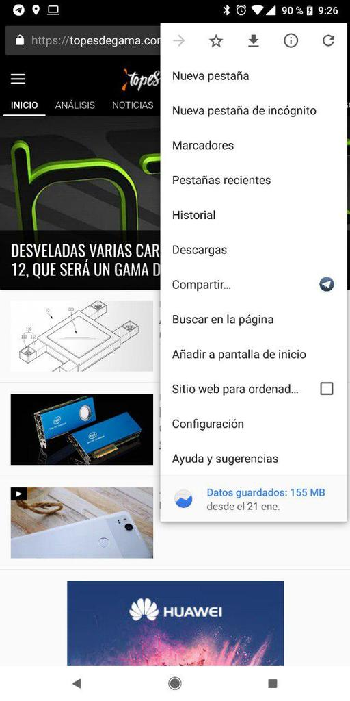 Compartir con Chrome para Android