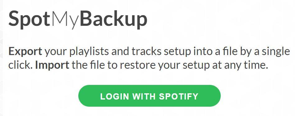 Inicipo copia de seguridad en Spotify