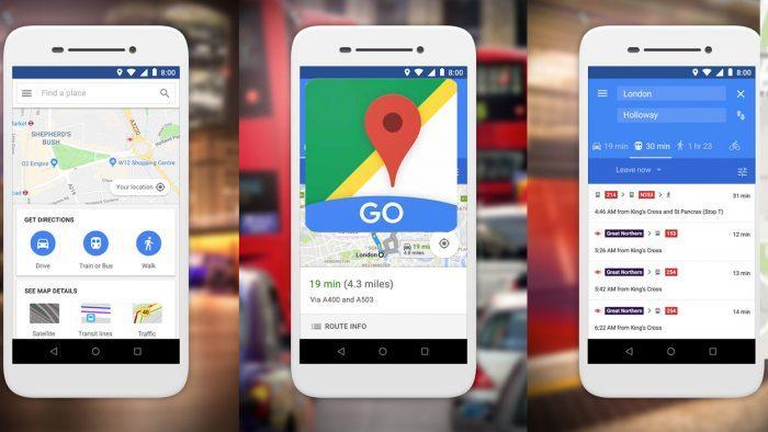 Aplicación Google Maps Go