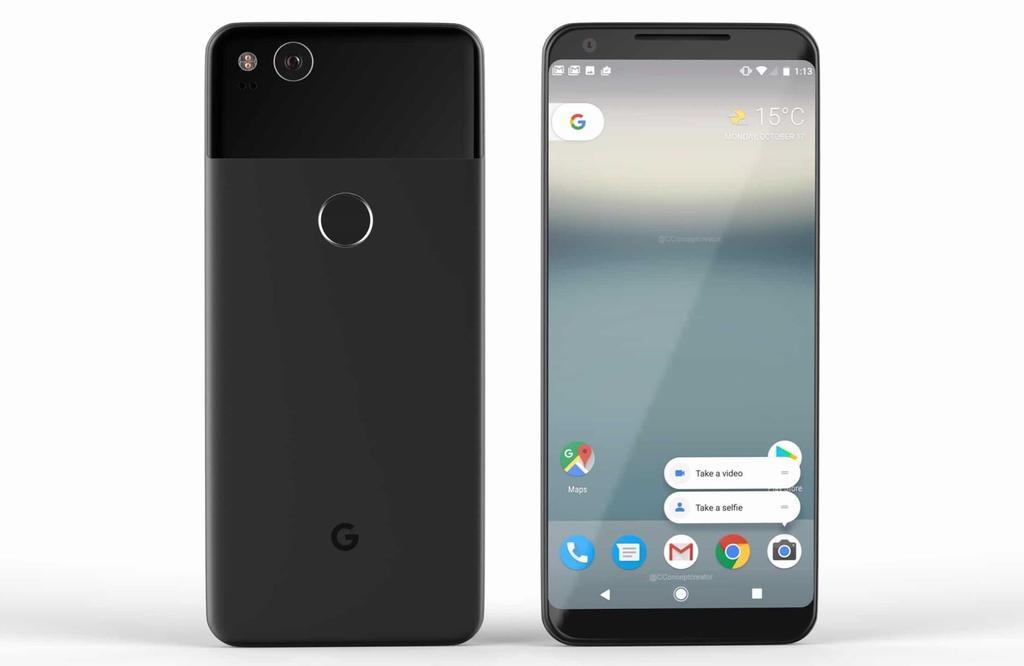 Diseño del Google Pixel 2 XL