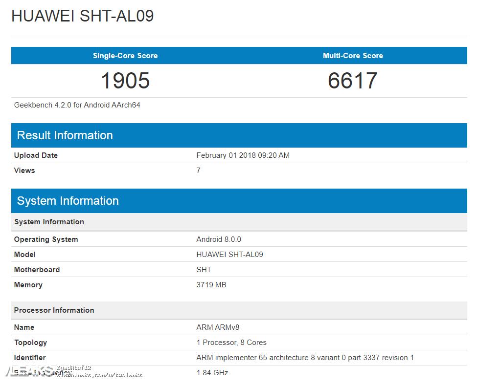 Resultado benchmark del Huawei MediaPad 5