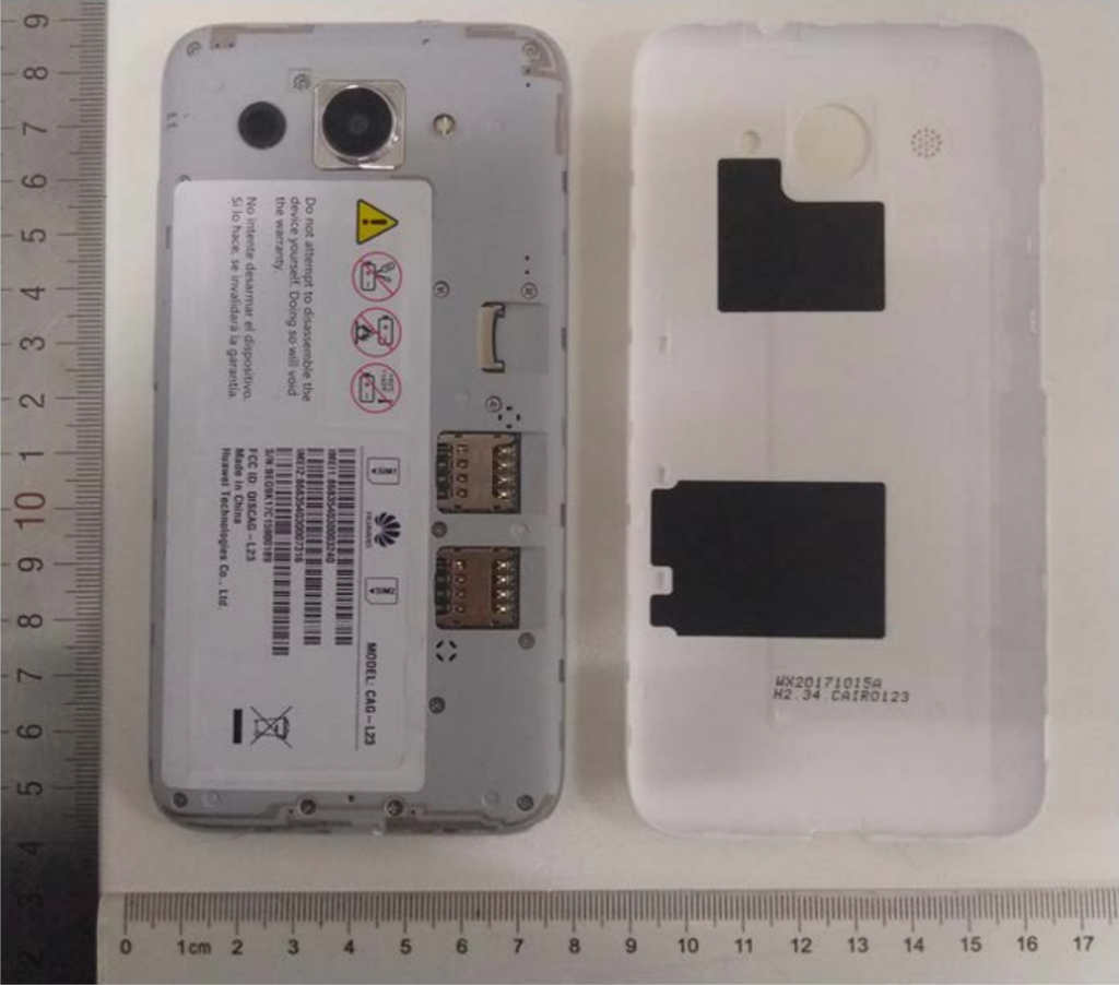 Diseño del teléfono Huawei Y5 Lite (2018) con Android Go
