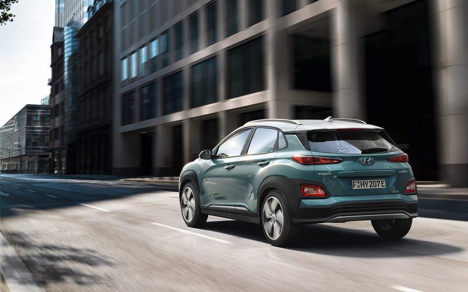 Hyundai Kona por detrás