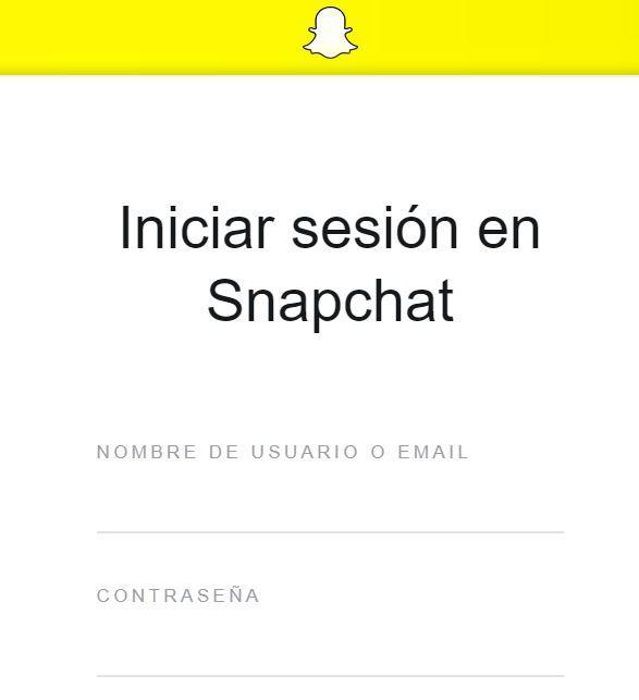 Web de Snapchat