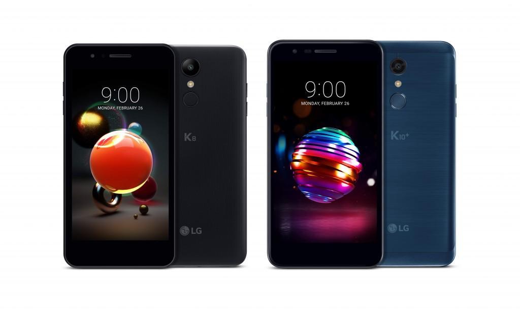 Teléfonos LG K8 2018 y LG K10 2018