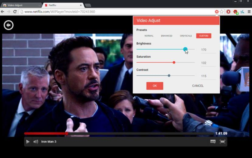 Extensión Video Adjust for Netflix de Chrome para Netflix