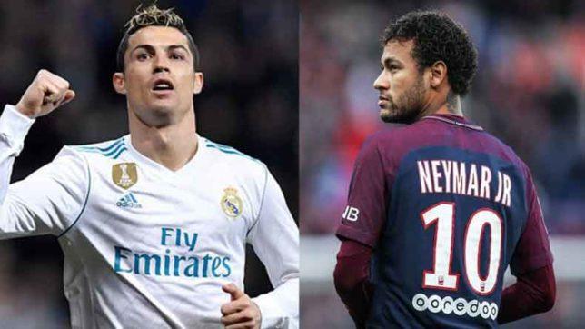 Cristiano Ronaldo y Neymar JR