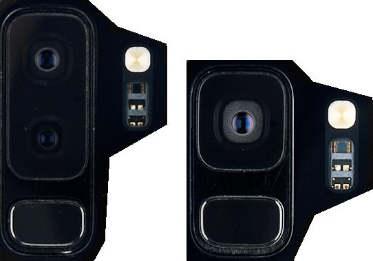 Cámara y sensor del Samsung Galaxy S9
