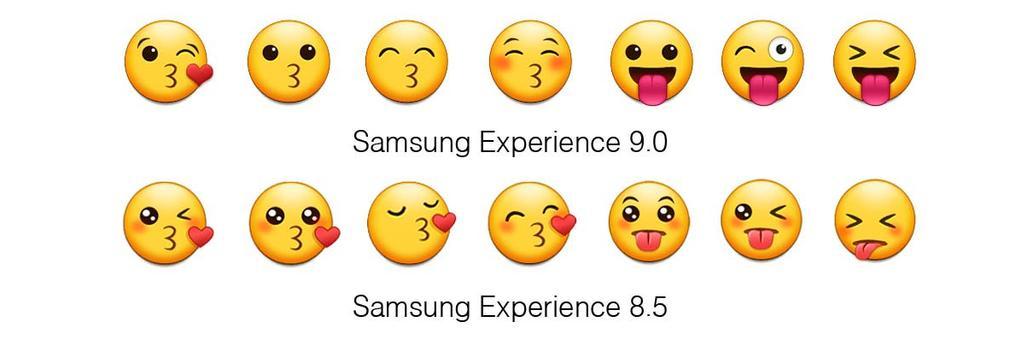 Emoticonos del Samsung Galaxy S9
