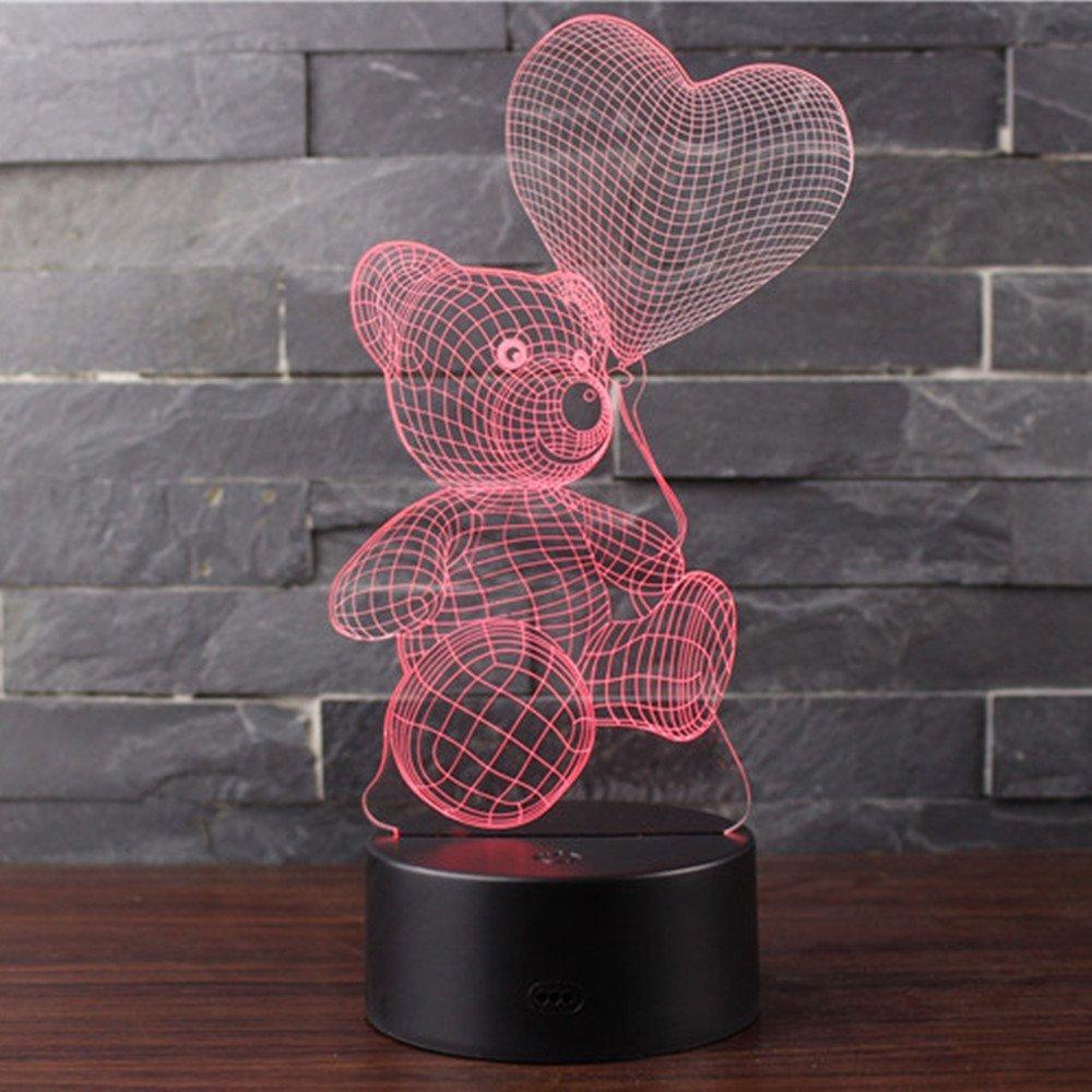 Lámpara LED osito por san Valentín